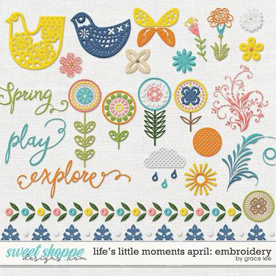 Life's Little Moments April: Embroidery by Grace Lee