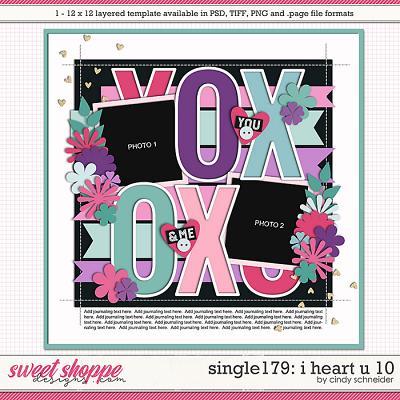 Cindy's Layered Templates - Single 179: I Heart U 10 by Cindy Schneider