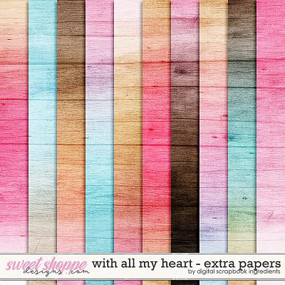 With All My Heart | Extra Papers by Digital Scrapbook Ingredients