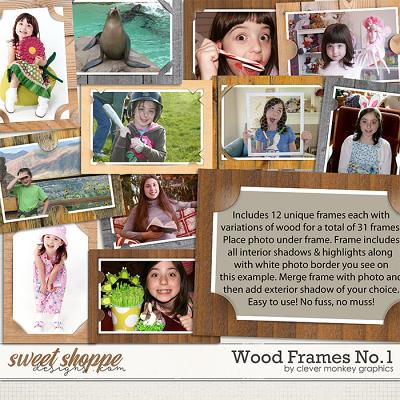 Wood Frames No1 by Clever Monkey Graphics