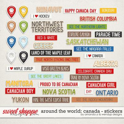 Around the world: Canada - Stickers by Amanda Yi & WendyP Designs