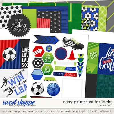 Easy Print: Just for Kicks by Misty Cato