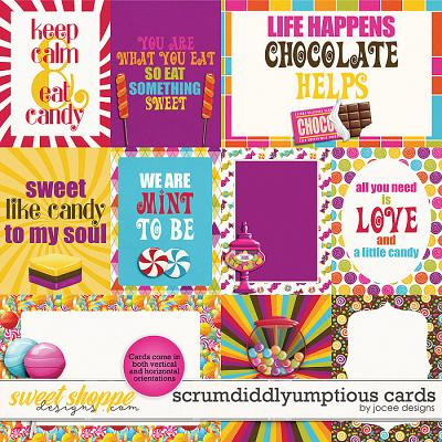 Scrumdiddlyumptious Cards by JoCee Designs