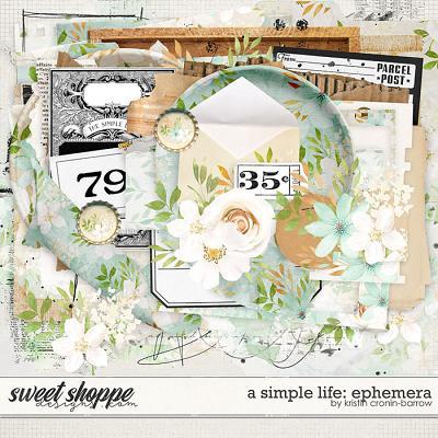 A Simple Life: Ephemera by Kristin Cronin-Barrow