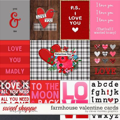 Farmhouse Valentine Cards by Clever Monkey Graphics