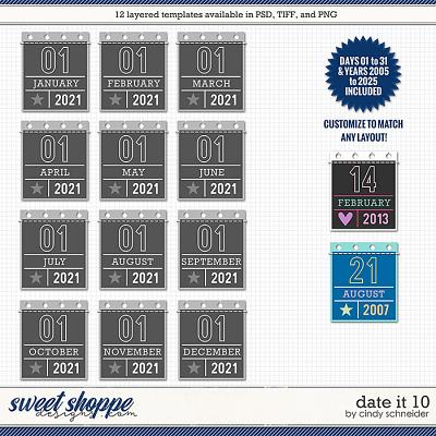 Cindy's Layered Templates - Date It 10 by Cindy Schneider