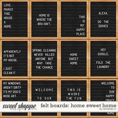 Felt Boards: Home Sweet Home by Amanda Yi