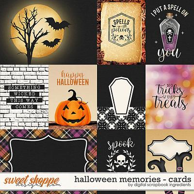 Halloween Memories | Cards by Digital Scrapbook Ingredients