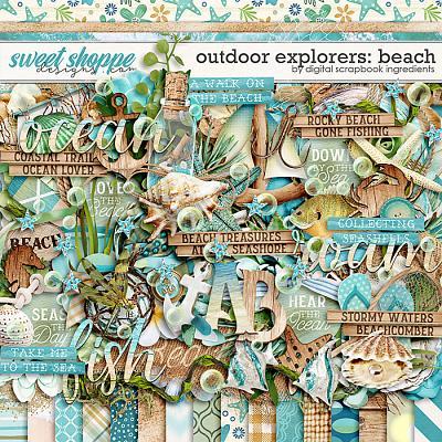 Outdoor Explorers: Beach by Digital Scrapbook Ingredients