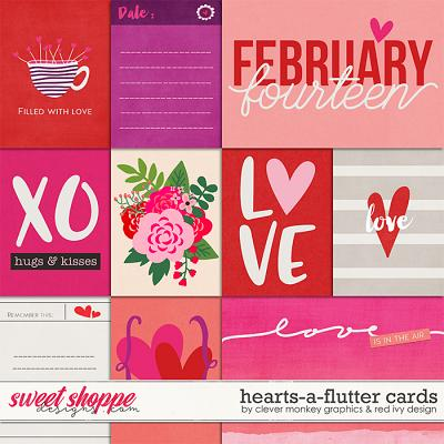 Hearts-a-flutter Cards by Clever Monkey Graphics & Red Ivy Design