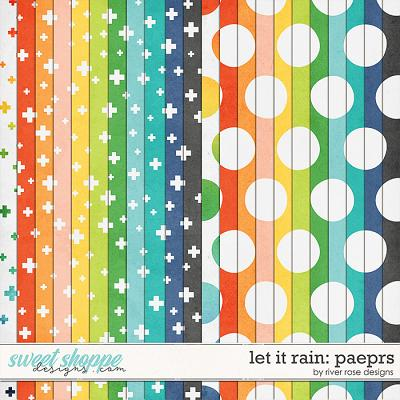 Let it Rain: Papers by River Rose Designs