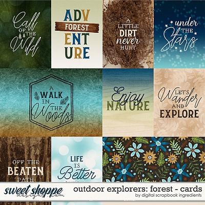 Outdoor Explorers: Forest | Cards by Digital Scrapbook Ingredients