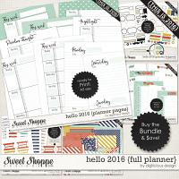 Hello 2016 {Full Planner} by Digilicious Design