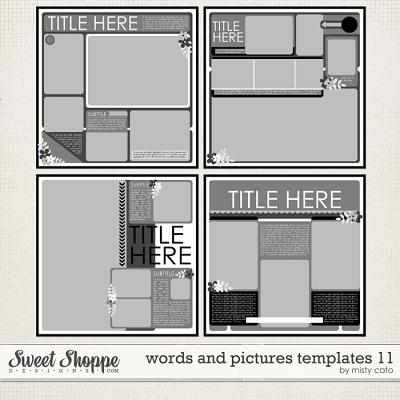 Words and Pictures Templates 11 by Misty Cato