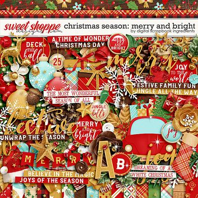 Christmas Season: Merry and Bright by Digital Scrapbook Ingredients
