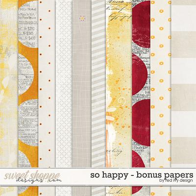 So Happy - Bonus Papers by Red Ivy Design