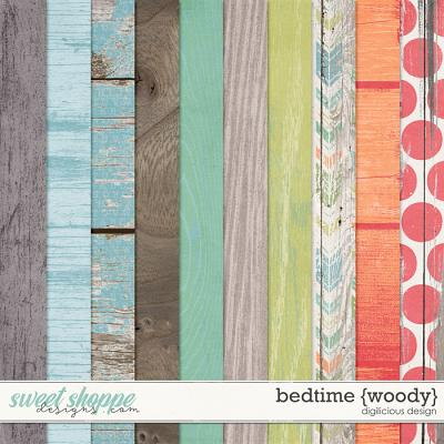 Bedtime {Woody Papers} by Digilicious Design