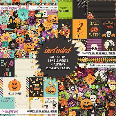 Halloween Creepies & Cuties Mega Collection by Studio Flergs & Digital Scrapbook Ingredients