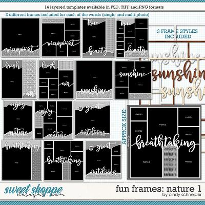 Cindy's Layered Templates - Fun Frames: Nature 1 by Cindy Schneider