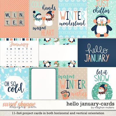 Hello January-Cards by Meghan Mullens