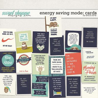 Energy Saving Mode: Cards by Erica Zane