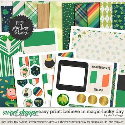 Easy Print: Believe in magic: LUCKY DAY by Studio Flergs