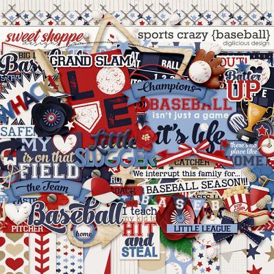 Sports Crazy {Baseball} by Digilicious Design