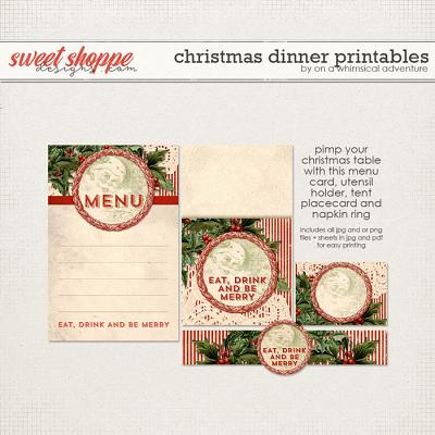 Christmas Dinner Printables by On A Whimsical Adventure