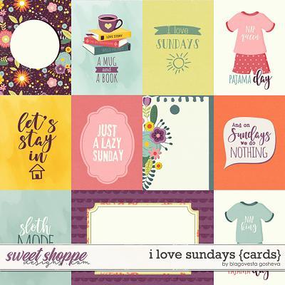 I Love Sundays {cards} by Blagovesta Gosheva
