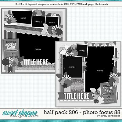Cindy's Layered Templates - Half Pack 206: Photo Focus 88 by Cindy Schneider