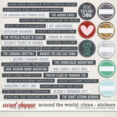Around the world: China - Stickers by Amanda Yi & WendyP Designs