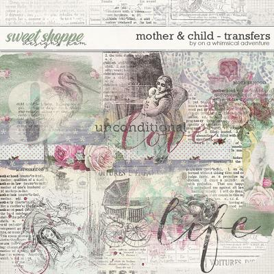 Mother And Child Transfers by On A Whimsical Adventure