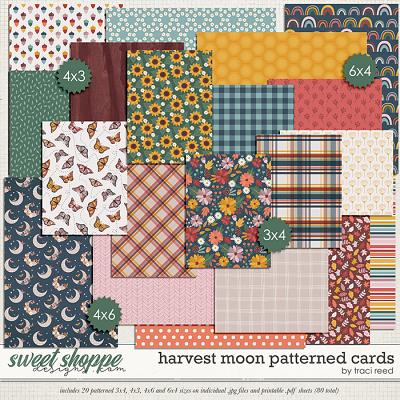 Harvest Moon Patterned Cards by Traci Reed