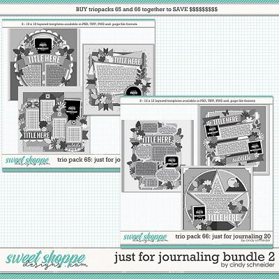 Cindy's Layered Templates - Just for Journaling Bundle 2 by Cindy Schneider