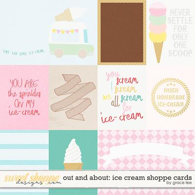 Out and About: Ice Cream Shoppe Cards by Grace Lee