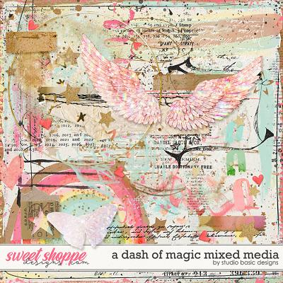 A Dash Of Magic Mixed Media by Studio Basic