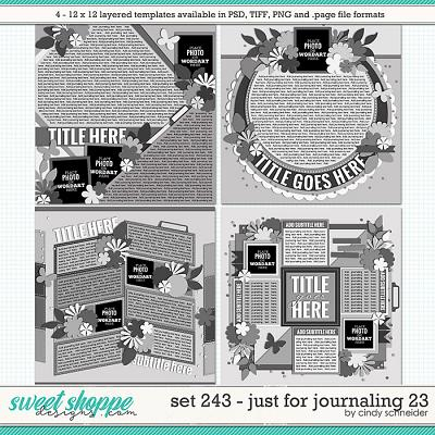 Cindy's Layered Templates - Set 243: Just for Journaling 23 by Cindy Schneider
