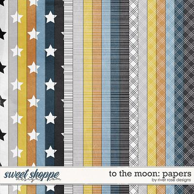 To the Moon: Papers by River Rose Designs