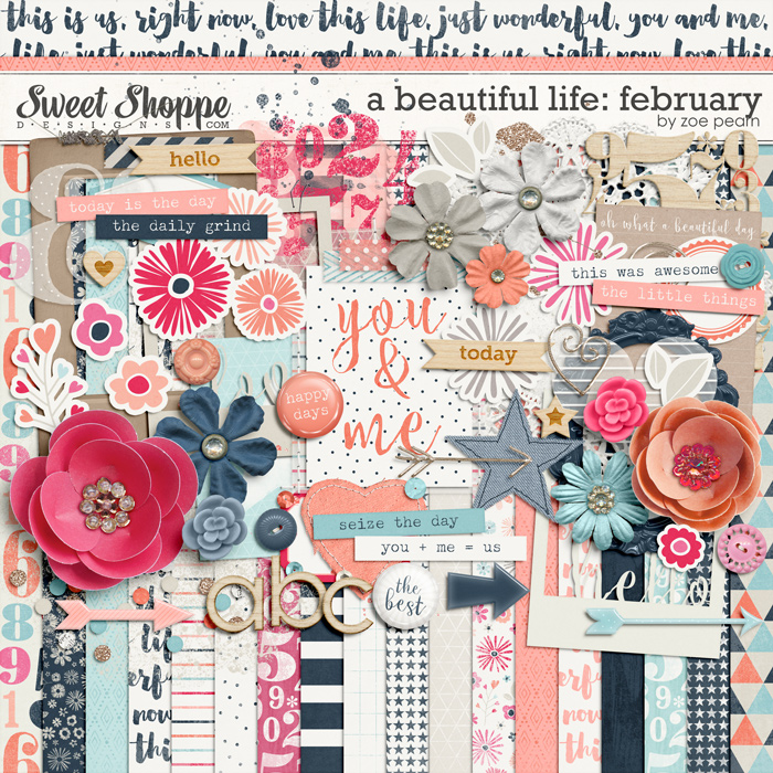 A Beautiful Life: February Kit by Zoe Pearn