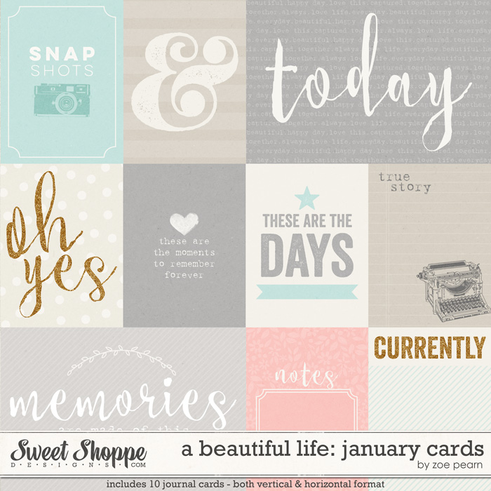 A Beautiful Life: January Journal Cards by Zoe Pearn