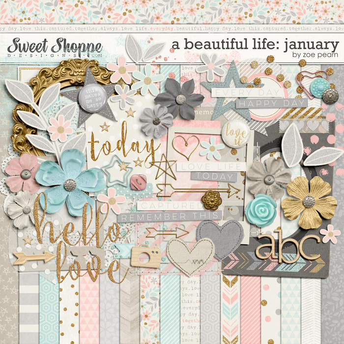 A Beautiful Life: January Kit by Zoe Pearn