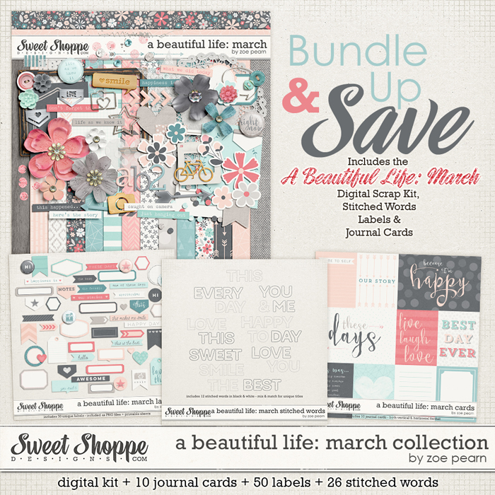 A Beautiful Life: March Value Bundle by Zoe Pearn
