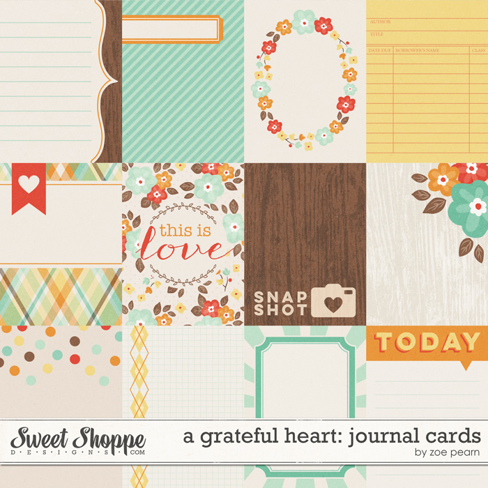 A Grateful Heart: Journal Cards by Zoe Pearn