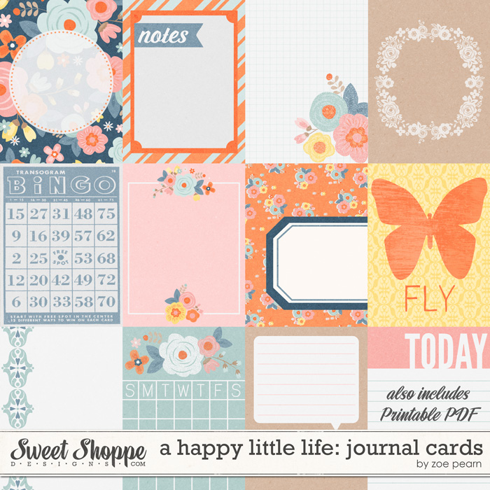 A Happy Little Life: Journal Cards by Zoe Pearn