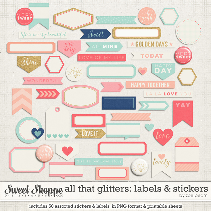 All That Glitters: Labels & Stickers by Zoe Pearn