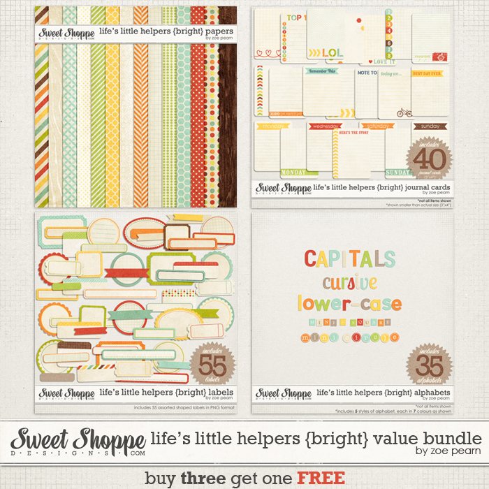 Life's Little Helpers {Brights} Value Bundle by Zoe Pearn