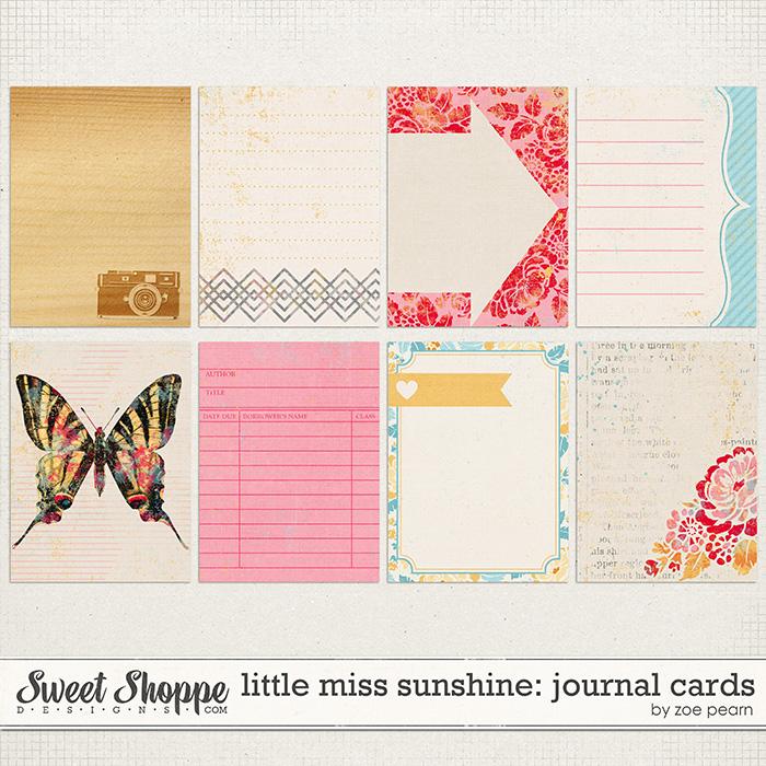 Little Miss Sunshine: Journal Cards by Zoe Pearn