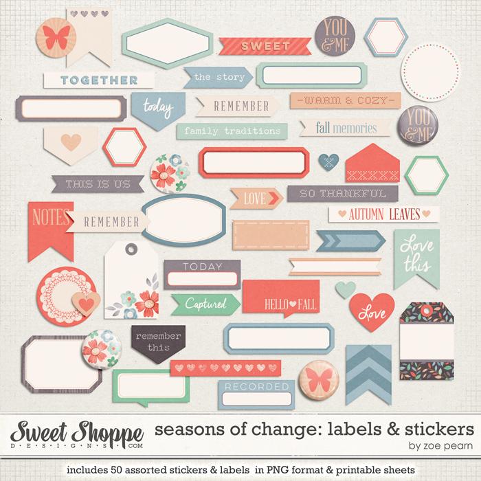 Seasons Of Change: LABELS & STICKERS by Zoe Pearn