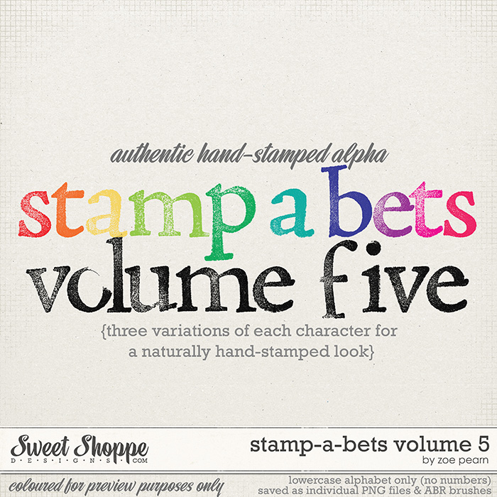 Stamp-A-Bets Volume 5 by Zoe Pearn