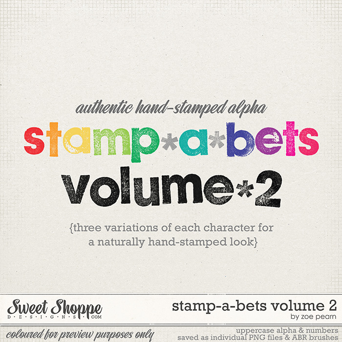 Stamp-A-Bets Volume 2 by Zoe Pearn